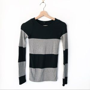 (3/$15) Theory • Long Sleeve Striped Tee